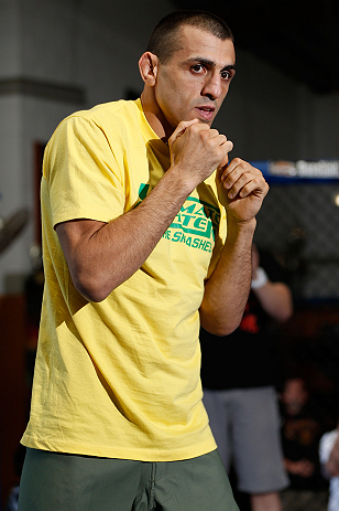 GOLD COAST, AUSTRALIA - DECEMBER 13:  George Sotiropoulos works out for the media during the UFC on FX open workouts on December 13, 2012 at Boonchu Gym in Gold Coast, Australia.  (Photo by Josh Hedges/Zuffa LLC/Zuffa LLC via Getty Images)