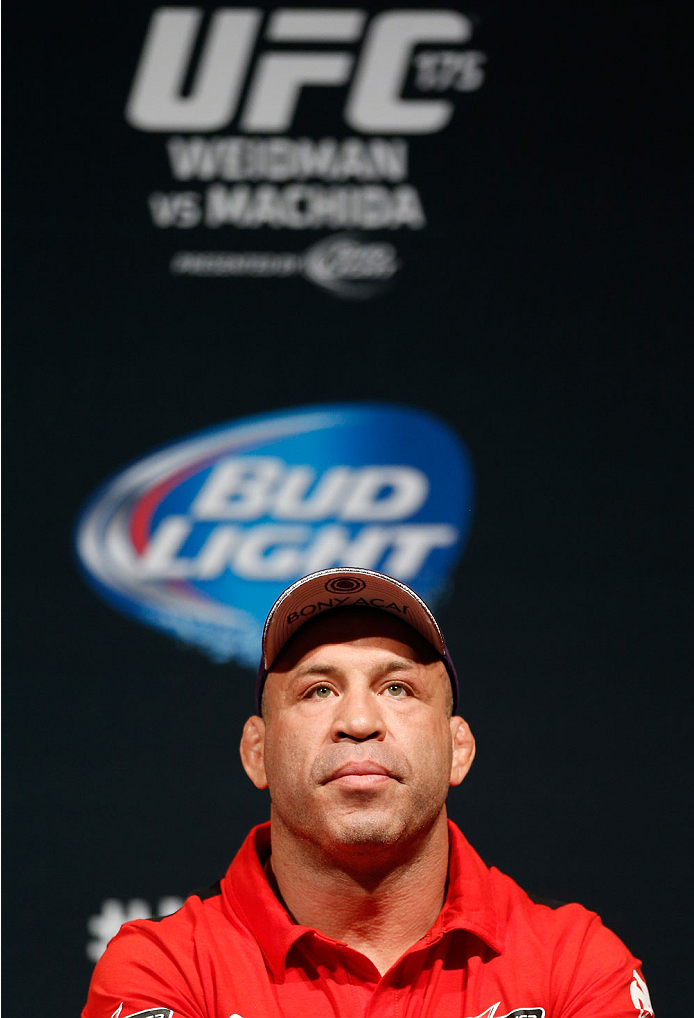 LAS VEGAS, NV - MAY 23:  Wanderlei Silva of Brazil interacts with fans and media during the UFC press conference at the MGM Grand Garden Arena on May 23, 2014 in Las Vegas, Nevada.  (Photo by Josh Hedges/Zuffa LLC/Zuffa LLC via Getty Images)