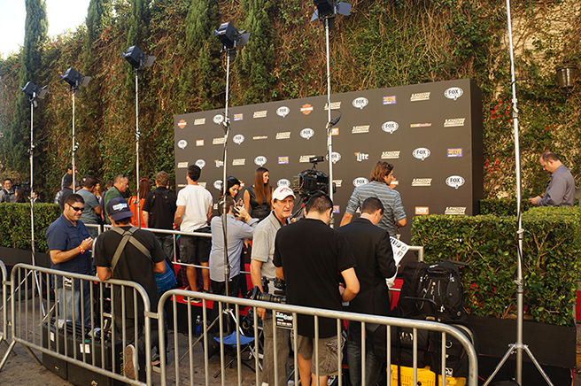 Photographers set up before the Ultimate Fighter season 20 red carpet event in Los Angeles. (Photos by Jonathan Bradley/UFC.com)
