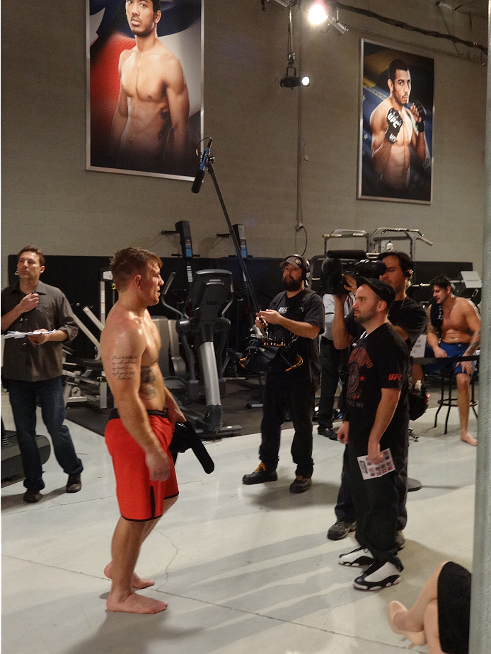 A fighter is interviewed following his Ultimate Fighter 19 elimination bout.