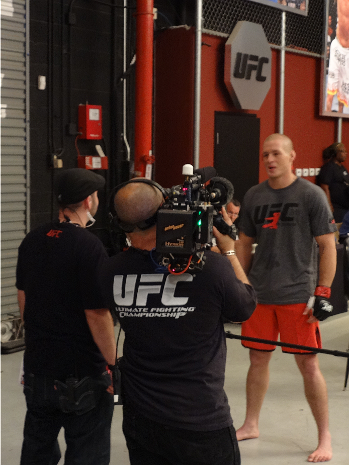Ultimate Fighter 19 contestant Daniel Spohn is interviewed after securing his spot in the TUF house.