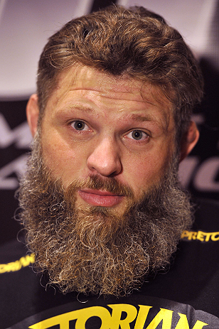 "LAS VEGAS, NV - DECEMBER 13:  UFC fighter Roy 'Big Country"" Nelson speaks to the media during the Ultimate Fighter 16 Finale open workouts at The Joint at the Hard Rock Hotel and Casino on December 13, 2012 in Las Vegas, Nevada.  (Photo by Jeff Bottari/Zuffa LLC/Zuffa LLC)"