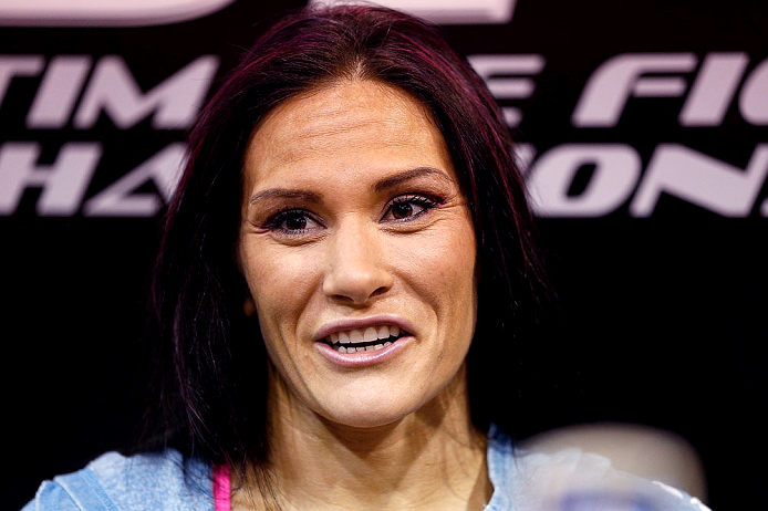 LAS VEGAS, NV - APRIL 11: Cat Zingano interacts with media at the UFC Training Center on April 11, 2013 in Las Vegas, Nevada. (Photo by Josh Hedges/Zuffa LLC/Zuffa LLC via Getty Images)