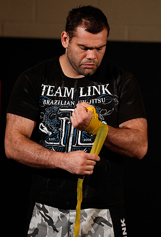 LAS VEGAS, NV - APRIL 11: Gabriel Gonzaga holds an open workout session for media at the UFC Training Center on April 11, 2013 in Las Vegas, Nevada. (Photo by Josh Hedges/Zuffa LLC/Zuffa LLC via Getty Images)