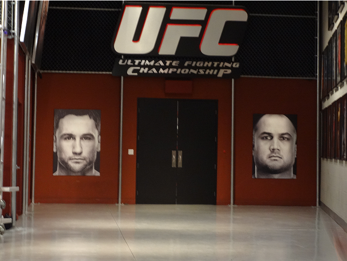 The doors that could lead to a spot in the Ultimate Fighter house.