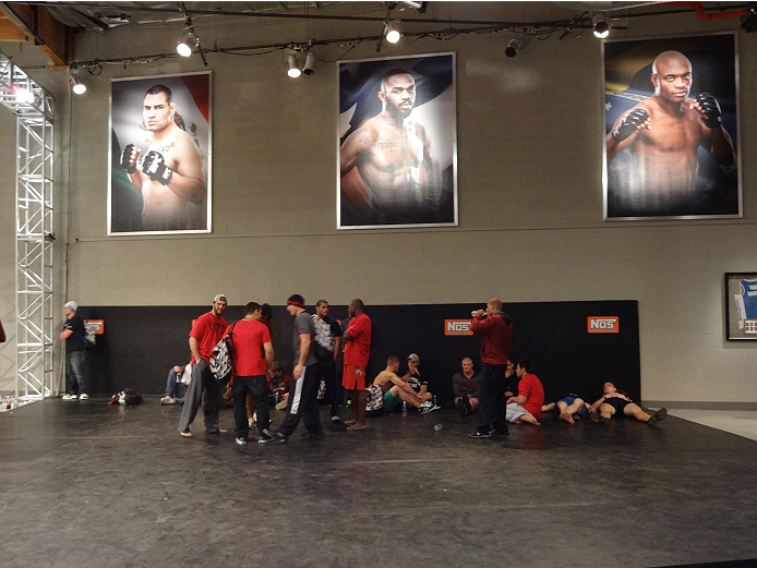Ultimate Fighter 19 elimination round winners relax before fight picks.