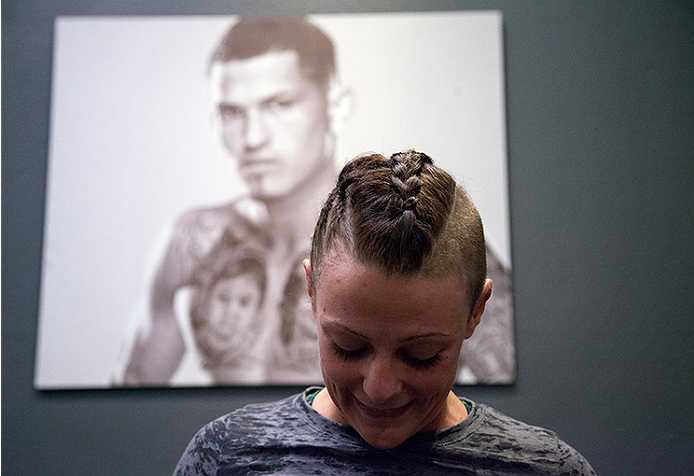 LAS VEGAS, NV - AUGUST 6:  Team Pettis fighter Joanne Calderwood warms up before facing team Melendez fighter Rose Namajunas in the quarterfinals during filming of season twenty of The Ultimate Fighter on August 6, 2014 in Las Vegas, Nevada. (Photo by Brandon Magnus/Zuffa LLC/Zuffa LLC via Getty Images) *** Local Caption *** Joanne Calderwood