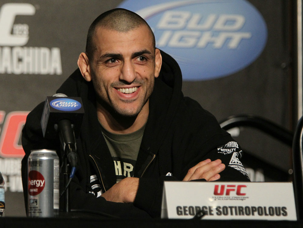 George Sotiropoulos at the UFC 123 pre-fight press conference at the MGM Grand Hotel and Casino in Detroit, Michigan on November 17, 2010  (Photo by Josh Hedges/Zuffa LLC/Zuffa LLC via Getty Images)