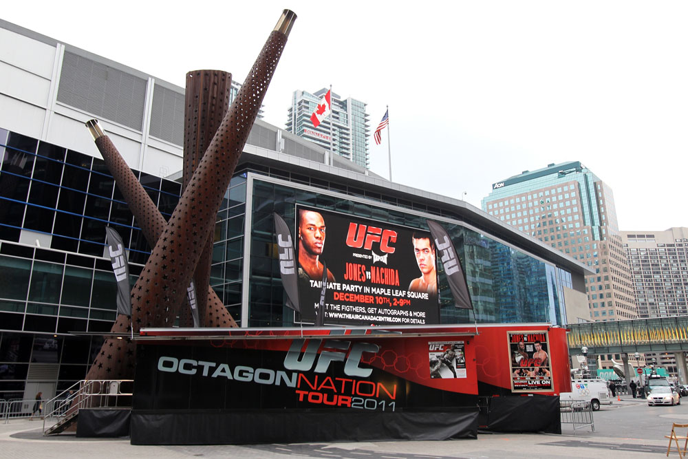 TORONTO, ON - DECEMBER 09:  A general view of the Air Canada Centre outside during the UFC 140 Official Weigh-in on December 9, 2011 in Toronto, Canada.  (Photo by Mike Roach/Zuffa LLC/Zuffa LLC via Getty Images)