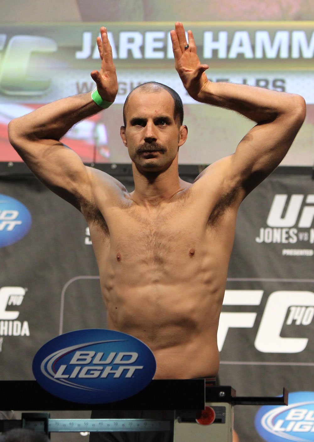 TORONTO, ON - DECEMBER 09:  Jared Hamman weighs in during the UFC 140 Official Weigh-in at the Air Canada Centre on December 9, 2011 in Toronto, Canada.  (Photo by Josh Hedges/Zuffa LLC/Zuffa LLC via Getty Images)