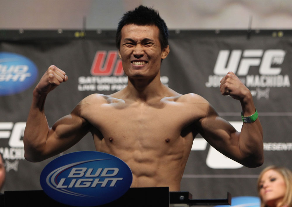 "TORONTO, ON - DECEMBER 09:  ""The Korean Zombie"" Chan Sung Jung weighs in during the UFC 140 Official Weigh-in at the Air Canada Centre on December 9, 2011 in Toronto, Canada.  (Photo by Josh Hedges/Zuffa LLC/Zuffa LLC via Getty Images)"