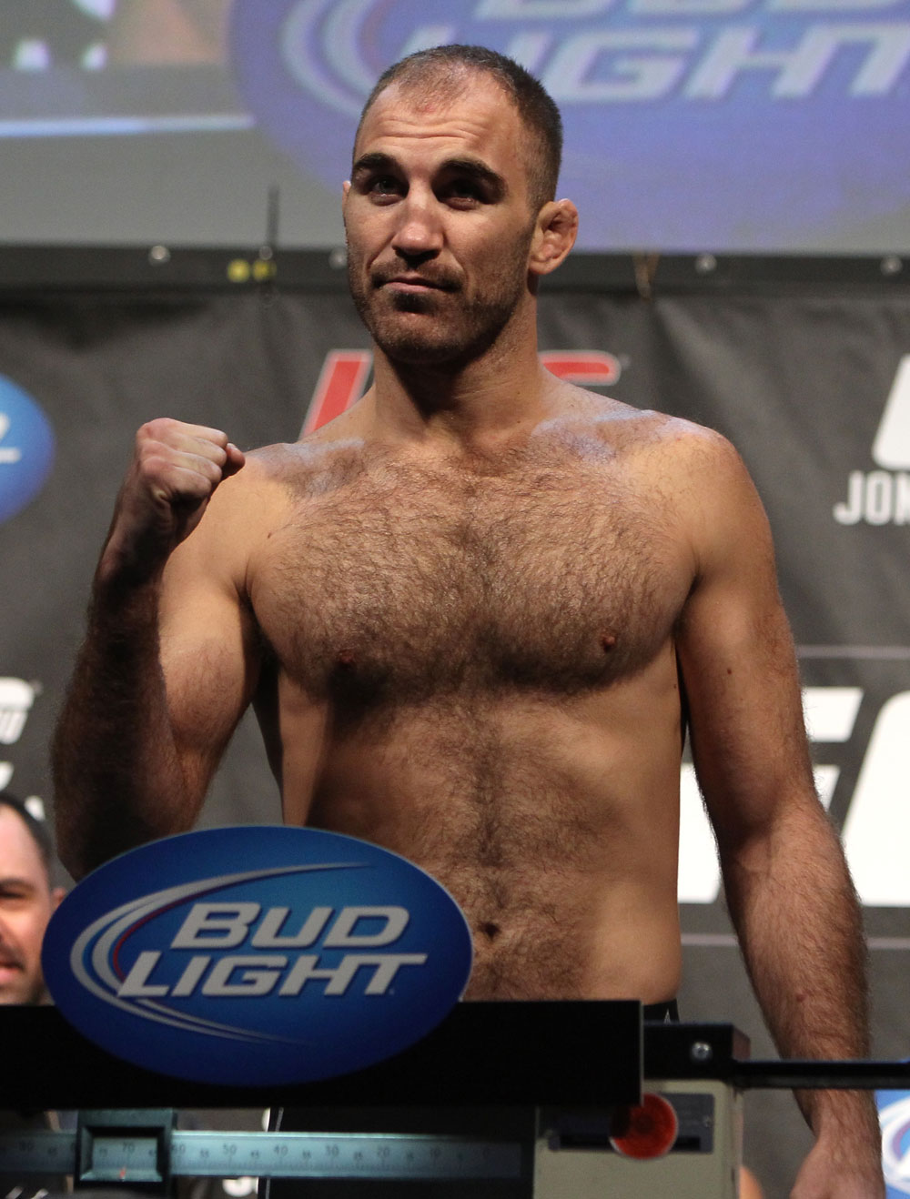 TORONTO, ON - DECEMBER 09:  Brian Ebersole weighs in during the UFC 140 Official Weigh-in at the Air Canada Centre on December 9, 2011 in Toronto, Canada.  (Photo by Josh Hedges/Zuffa LLC/Zuffa LLC via Getty Images)