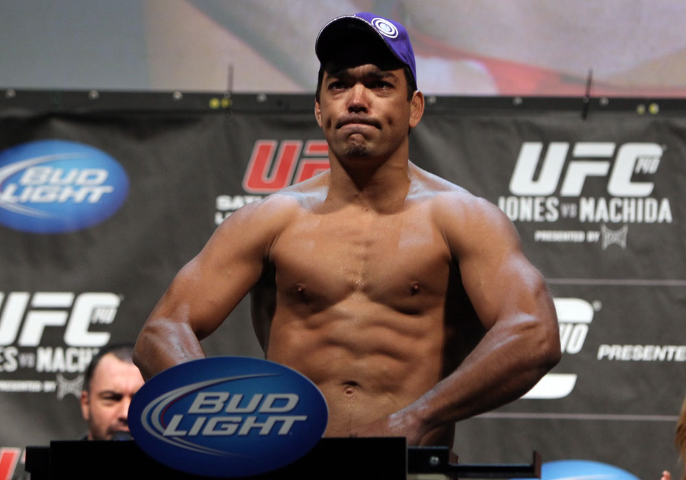 TORONTO, ON - DECEMBER 09:  Lyoto Machida weighs in during the UFC 140 Official Weigh-in at the Air Canada Centre on December 9, 2011 in Toronto, Canada.  (Photo by Josh Hedges/Zuffa LLC/Zuffa LLC via Getty Images)