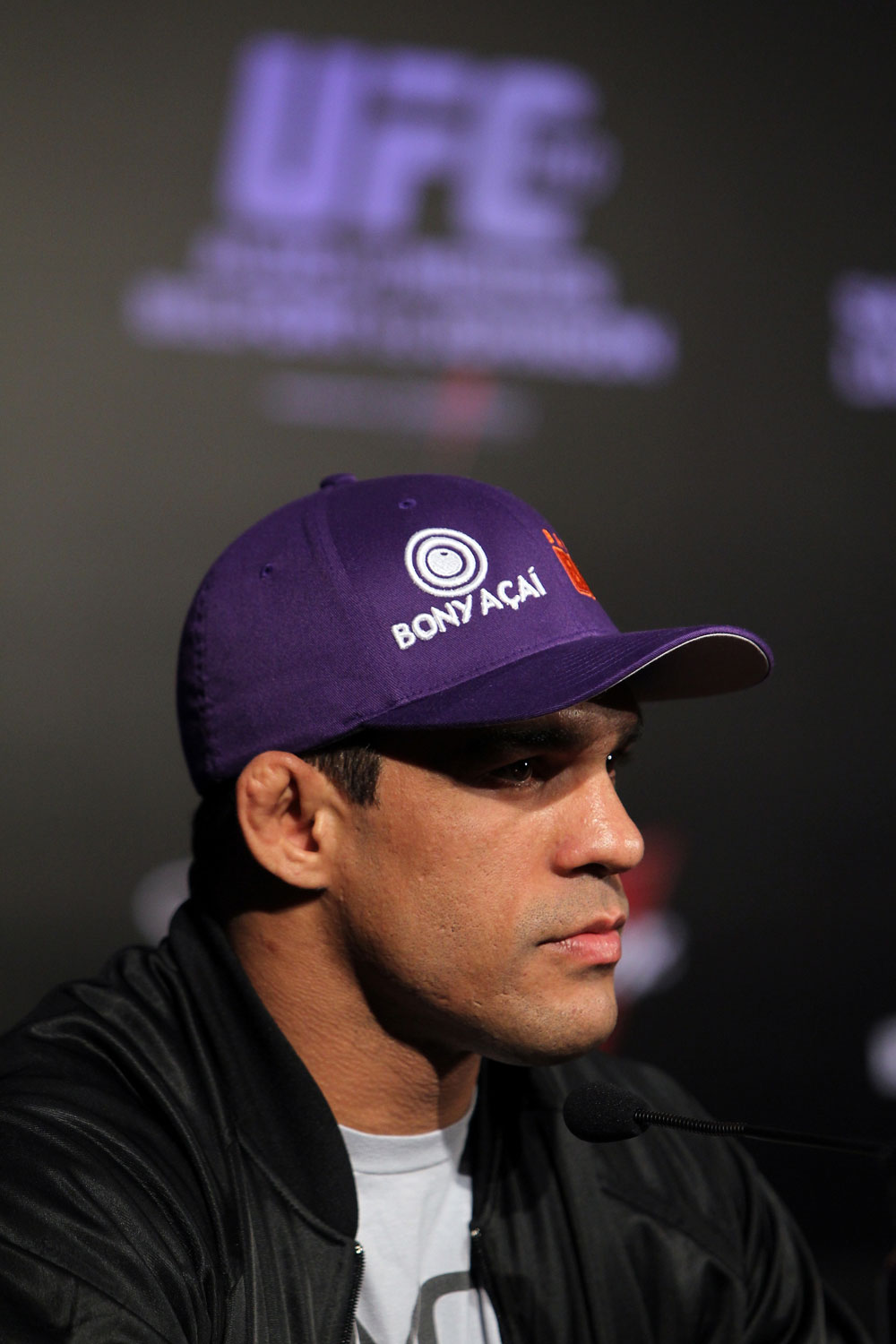 RIO DE JANEIRO, BRAZIL - JANUARY 12:  Vitor Belfort attends the final UFC 142 pre-fight press conference at the Copacabana Palace Hotel on January 12, 2012 in Rio de Janeiro, Brazil.  (Photo by Josh Hedges/Zuffa LLC/Zuffa LLC via Getty Images)