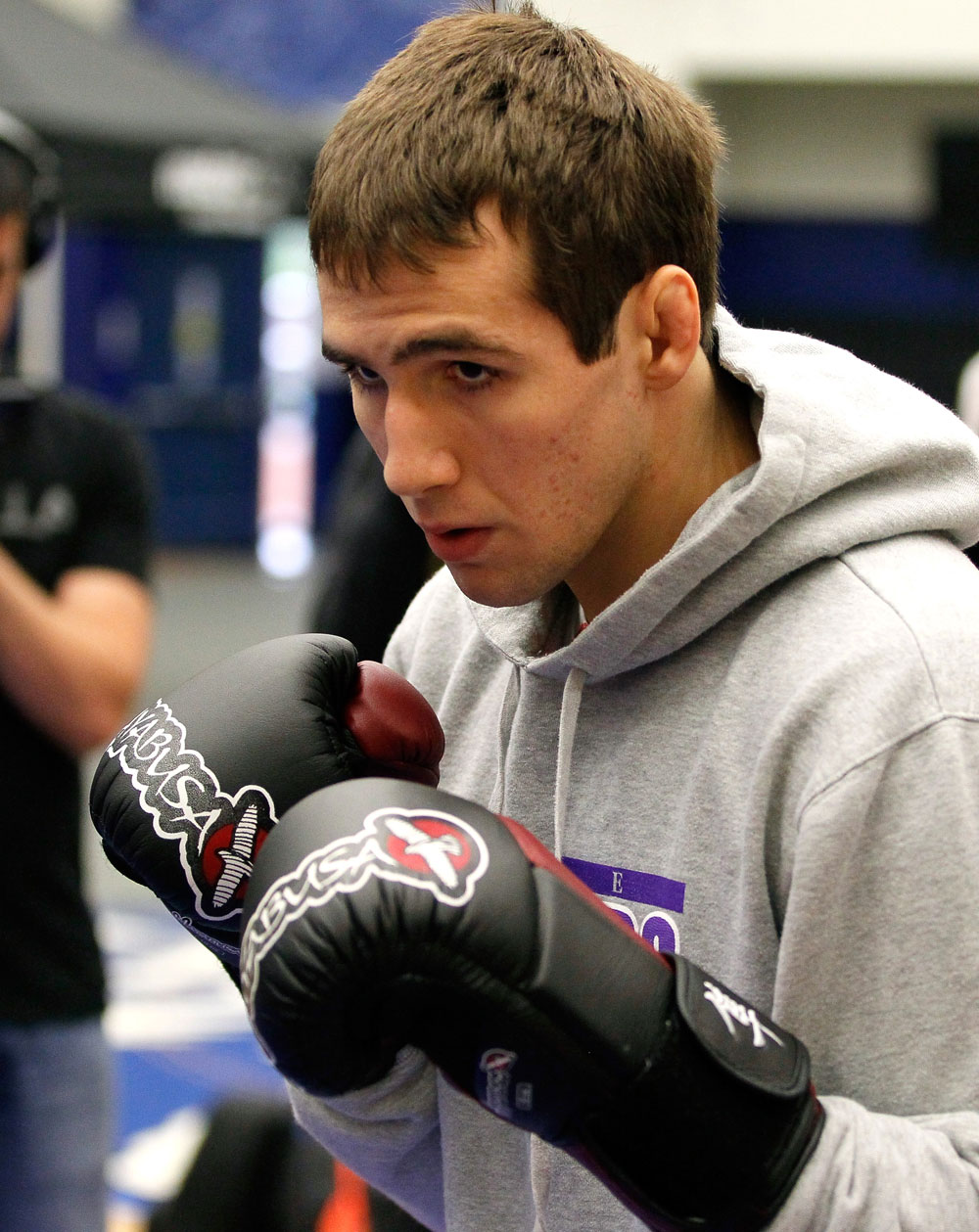 ATLANTA, GA - APRIL 19:  Rory MacDonald of Canada works out for the media during UFC 145 open workouts at GSU Sports Arena on April 19, 2012 in Atlanta, Georgia.  (Photo by Kevin C. Cox/Zuffa LLC/Zuffa LLC via Getty Images)