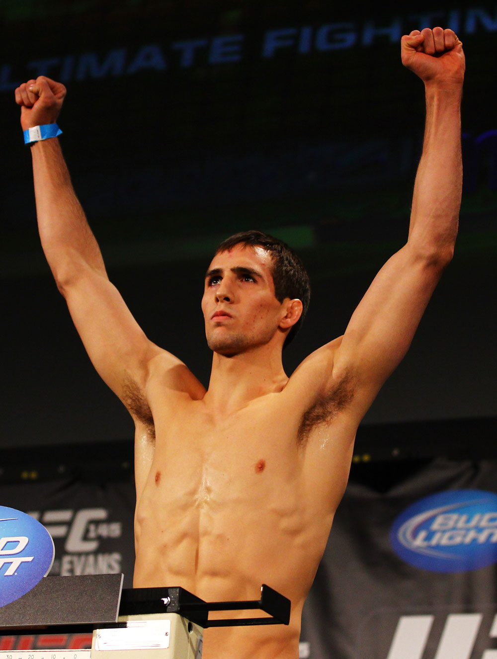ATLANTA, GA - APRIL 20:  Welterweight fighter Rory MacDonald weighs in for his bout against Che Mills during the UFC 145 official weigh in at Fox Theatre on April 20, 2012 in Atlanta, Georgia.  (Photo by Al Bello/Zuffa LLC/Zuffa LLC via Getty Images)