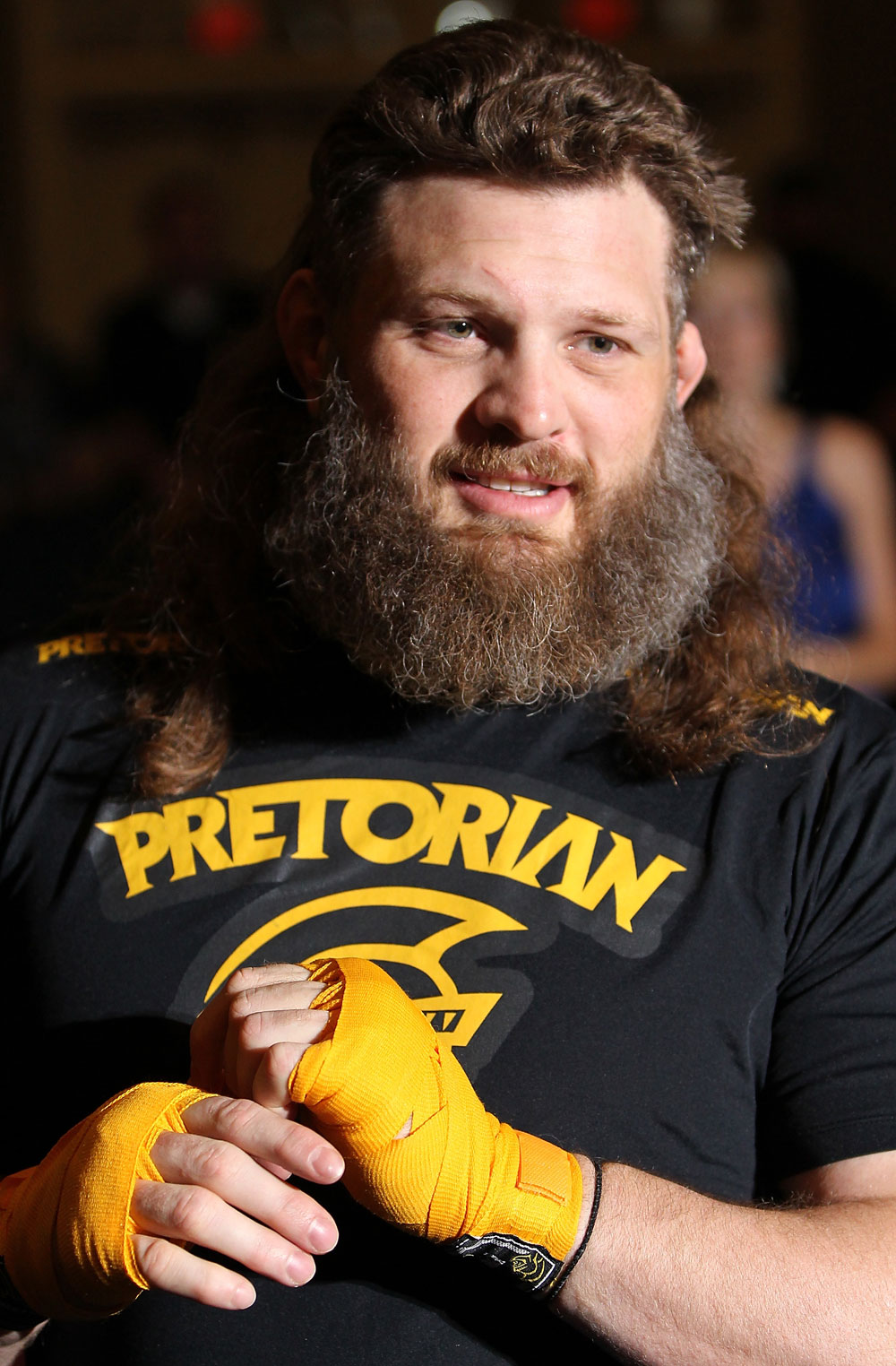LAS VEGAS, NV - MAY 23:   Roy Nelson works out for the media and fans during the UFC 146 Open Workouts at MGM Grand on May 23, 2012 in Las Vegas, Nevada.  (Photo by Josh Hedges/Zuffa LLC/Zuffa LLC via Getty Images)