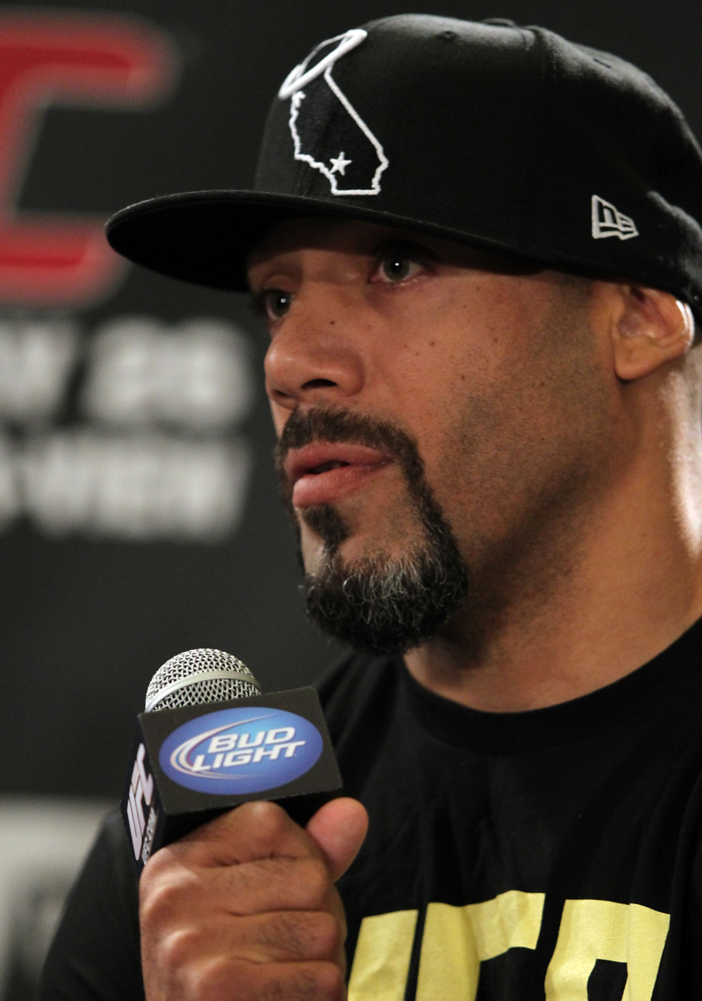 LAS VEGAS, NV - MAY 24:   Lavar Johnson attends the UFC 146 press conference at MGM Grand on May 24, 2012 in Las Vegas, Nevada.  (Photo by Josh Hedges/Zuffa LLC/Zuffa LLC via Getty Images)