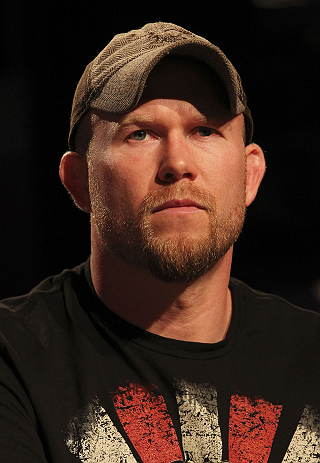 CALGARY, CANADA - JULY 19: Tim Boetsch attends the UFC 149 press conference at the Flames Central Sports Club on July 19, 2012 in Calgary, Alberta, Canada. (Photo by Jeff Bottari/Zuffa LLC/Zuffa LLC via Getty Images)