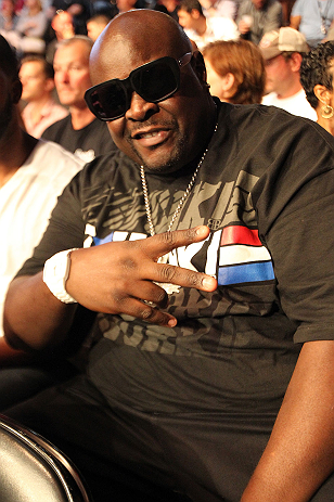 "DENVER, CO - AUGUST 11:  Television personality Christopher ""Big Black"" Boykin attends UFC 150 inside Pepsi Center on August 11, 2012 in Denver, Colorado. (Photo by Mike Roach/Zuffa LLC/Zuffa LLC via Getty Images)"
