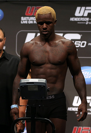 DENVER, CO - AUGUST 10:  Melvin Guillard weighs in during the UFC 150 weigh in at Pepsi Center on August 10, 2012 in Denver, Colorado. (Photo by Josh Hedges/Zuffa LLC/Zuffa LLC via Getty Images)