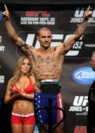 TORONTO, CANADA - SEPTEMBER 21: Cub Swanson weighs in during the UFC 152 weigh in at Mattamy Athletic Centre at the Gardens on September 21, 2012 in Toronto, Ontario, Canada. (Photo by Josh Hedges/Zuffa LLC/Zuffa LLC via Getty Images)