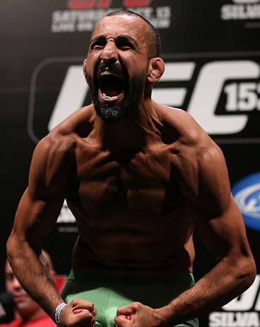 RIO DE JANEIRO, BRAZIL - OCTOBER 12:  Reza Madadi weighs in during the UFC 153 weigh in at HSBC Arena on October 12, 2012 in Rio de Janeiro, Brazil.  (Photo by Josh Hedges/Zuffa LLC/Zuffa LLC via Getty Images)