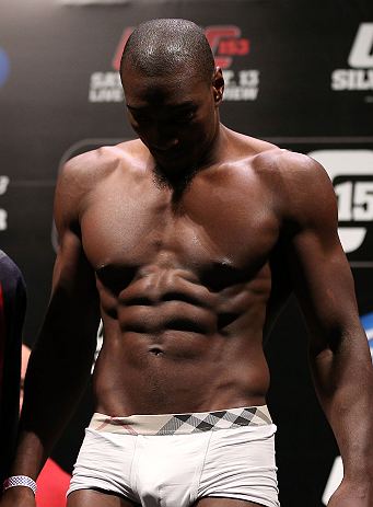RIO DE JANEIRO, BRAZIL - OCTOBER 12:  Phil Davis weighs in during the UFC 153 weigh in at HSBC Arena on October 12, 2012 in Rio de Janeiro, Brazil.  (Photo by Josh Hedges/Zuffa LLC/Zuffa LLC via Getty Images)