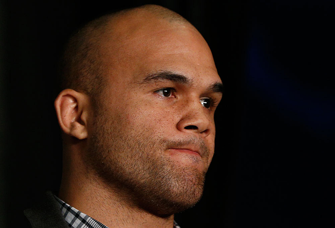 ANAHEIM, CA - FEBRUARY 21:  Robbie Lawler interacts with media during a UFC pre-fight press conference at Honda Center on February 21, 2013 in Anaheim, California.  (Photo by Josh Hedges/Zuffa LLC/Zuffa LLC via Getty Images)