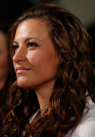 ANAHEIM, CA - FEBRUARY 21:  UFC women&#39;s bantamweight contender Miesha Tate attends a UFC pre-fight press conference at Honda Center on February 21, 2013 in Anaheim, California.  (Photo by Josh Hedges/Zuffa LLC/Zuffa LLC via Getty Images)