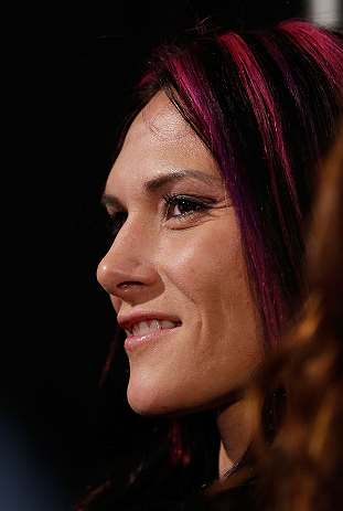 ANAHEIM, CA - FEBRUARY 21:  UFC women&#39;s bantamweight contender Cat Zingano attends a UFC pre-fight press conference at Honda Center on February 21, 2013 in Anaheim, California.  (Photo by Josh Hedges/Zuffa LLC/Zuffa LLC via Getty Images)