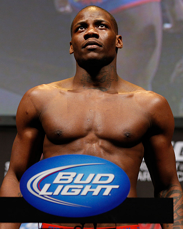 ANAHEIM, CA - FEBRUARY 22:  Nah-Shon Burrell weighs in during the UFC 157 weigh-in at Honda Center on February 22, 2013 in Anaheim, California.  (Photo by Josh Hedges/Zuffa LLC/Zuffa LLC via Getty Images)