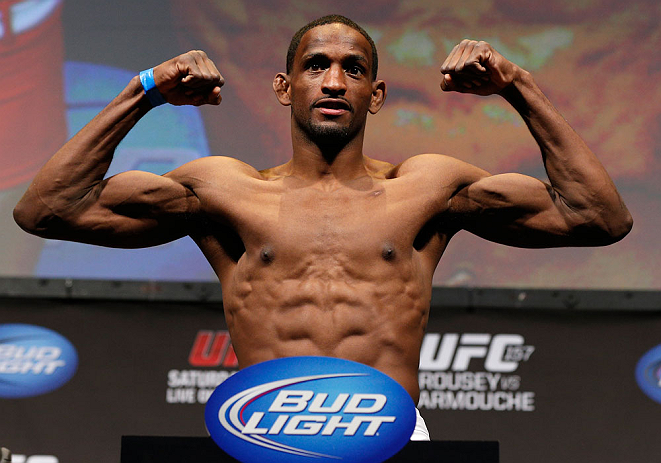 ANAHEIM, CA - FEBRUARY 22:  Neil Magny weighs in during the UFC 157 weigh-in at Honda Center on February 22, 2013 in Anaheim, California.  (Photo by Josh Hedges/Zuffa LLC/Zuffa LLC via Getty Images)