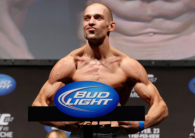 ANAHEIM, CA - FEBRUARY 22:  Anton Kuivanen weighs in during the UFC 157 weigh-in at Honda Center on February 22, 2013 in Anaheim, California.  (Photo by Josh Hedges/Zuffa LLC/Zuffa LLC via Getty Images)