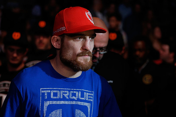 NEWARK, NJ - APRIL 27:  Pat Healy enters the arena before his lightweight fight against Jim Miller during the UFC 159 event at the Prudential Center on April 27, 2013 in Newark, New Jersey.  (Photo by Josh Hedges/Zuffa LLC/Zuffa LLC via Getty Images)