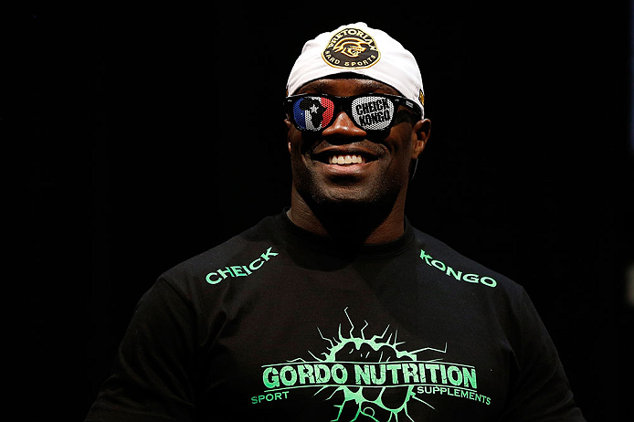 NEWARK, NJ - APRIL 26:   Cheick Kongo prepares to weigh in during the UFC 159 weigh-in event at the Prudential Center on April 26, 2013 in Newark, New Jersey.  (Photo by Josh Hedges/Zuffa LLC/Zuffa LLC via Getty Images)
