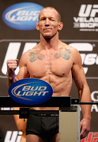 LAS VEGAS, NV - MAY 24:   Gray Maynard weighs in during the UFC 160 weigh-in at the MGM Grand Garden Arena on May 24, 2013 in Las Vegas, Nevada.  (Photo by Josh Hedges/Zuffa LLC/Zuffa LLC via Getty Images)