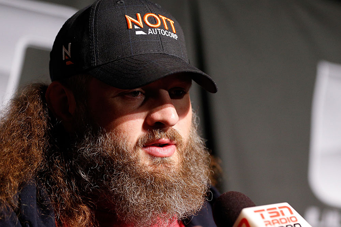 WINNIPEG, CANADA - JUNE 13:  Roy Nelson interacts with media during the UFC 161 media day at The Met on June 13, 2013 in Winnipeg, Manitoba, Canada.  (Photo by Josh Hedges/Zuffa LLC/Zuffa LLC via Getty Images)