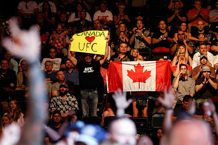 WINNIPEG, CANADA - JUNE 15:  A general view of fans in attendance during the UFC 161 event at the MTS Centre on June 15, 2013 in Winnipeg, Manitoba, Canada.  (Photo by Josh Hedges/Zuffa LLC/Zuffa LLC via Getty Images)