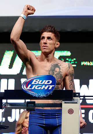 LAS VEGAS, NV - JULY 05:  Norman Parke weighs in during the UFC 162 weigh-in at the Mandalay Bay Events Center on July 5, 2013 in Las Vegas, Nevada.  (Photo by Josh Hedges/Zuffa LLC/Zuffa LLC via Getty Images)