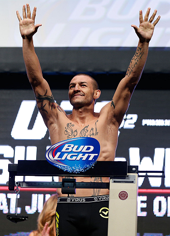 LAS VEGAS, NV - JULY 05:  Cub Swanson weighs in during the UFC 162 weigh-in at the Mandalay Bay Events Center on July 5, 2013 in Las Vegas, Nevada.  (Photo by Josh Hedges/Zuffa LLC/Zuffa LLC via Getty Images)