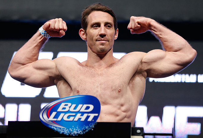 LAS VEGAS, NV - JULY 05:  Tim Kennedy weighs in during the UFC 162 weigh-in at the Mandalay Bay Events Center on July 5, 2013 in Las Vegas, Nevada.  (Photo by Josh Hedges/Zuffa LLC/Zuffa LLC via Getty Images)