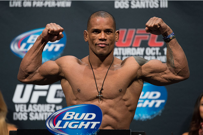 HOUSTON, TX - OCTOBER 18:  Hector Lombard weighs in during the UFC 166 weigh-in at the Toyota Center on October 18, 2013 in Houston, Texas. (Photo by Jeff Bottari/Zuffa LLC/Zuffa LLC via Getty Images) *** Local Caption *** Hector Lombard