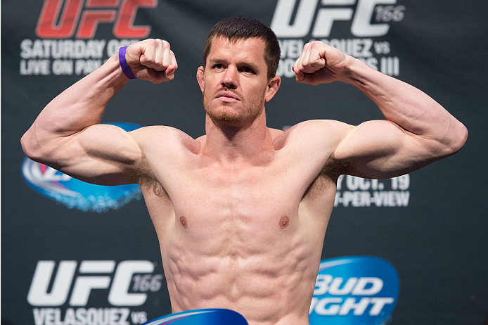HOUSTON, TX - OCTOBER 18:  CB Dollaway weighs in during the UFC 166 weigh-in at the Toyota Center on October 18, 2013 in Houston, Texas. (Photo by Jeff Bottari/Zuffa LLC/Zuffa LLC via Getty Images) *** Local Caption *** CB Dollaway