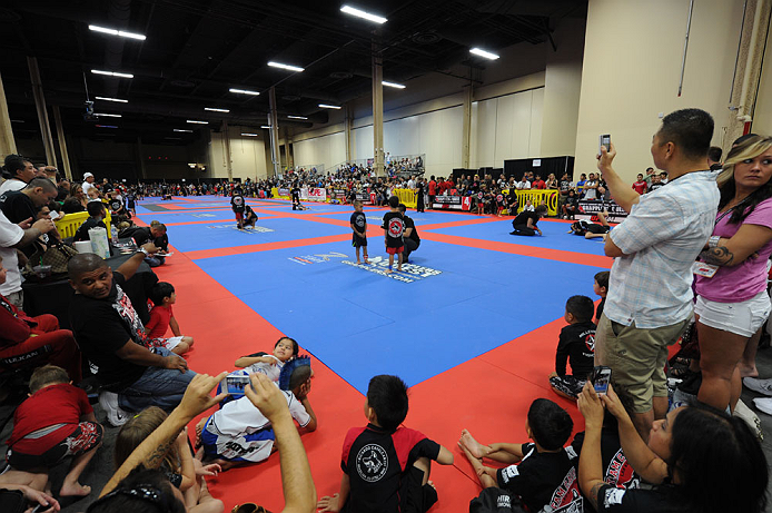 LAS VEGAS, NV - JULY 7:   Young athletes compete in the Grapplers Quest competition during the UFC Fan Expo at the Mandalay Bay Convention Center on July 7, 2012 in Las Vegas, Nevada.  (Photo by Al Powers/Zuffa LLC/Zuffa LLC via Getty Images)  *** Local Caption ***