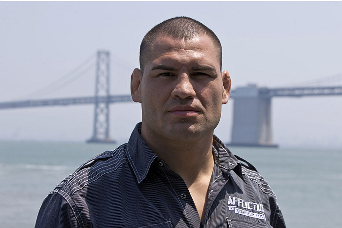 SAN FRANCISCO, CA - JULY 29: Cain Velasquez looks on during a UFC press tour event on July 29, 2013 in San Francisco, California.  (Photo by Jason O. Watson/Zuffa LLC/Zuffa LLC via Getty Images)