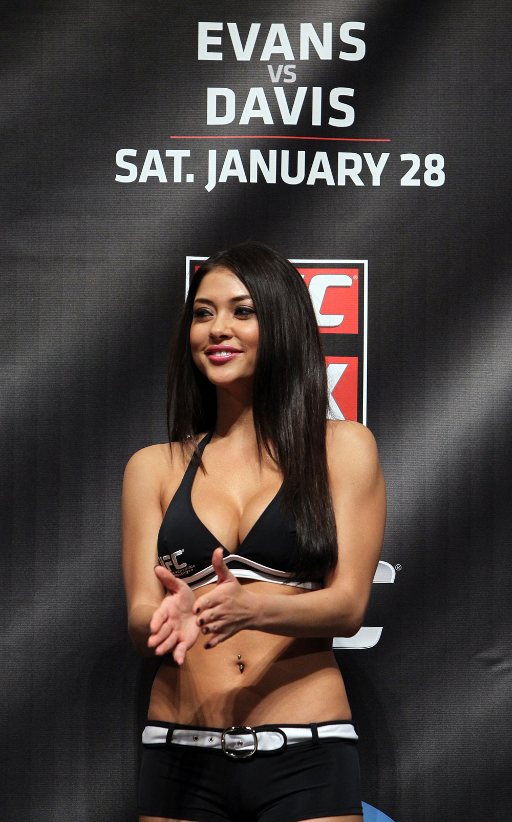 CHICAGO, IL - JANUARY 27:  UFC Octagon Girl Arianny Celeste attends the UFC on FOX official weigh in at the Chicago Theatre on January 27, 2012 in Chicago, Illinois.  (Photo by Josh Hedges/Zuffa LLC/Zuffa LLC via Getty Images) *** Local Caption *** Arianny Celeste