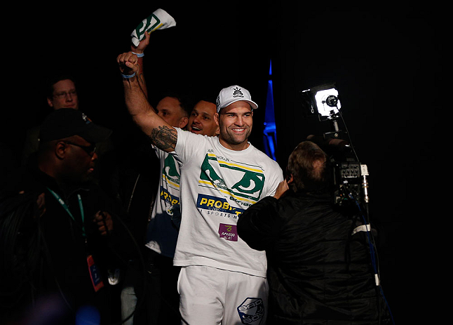 "SEATTLE, WA - DECEMBER 07:  Mauricio ""Shogun"" Rua enters the arena before weighing in during the official UFC on FOX weigh in on December 7, 2012 at Key Arena in Seattle, Washington.  (Photo by Josh Hedges/Zuffa LLC/Zuffa LLC via Getty Images)"