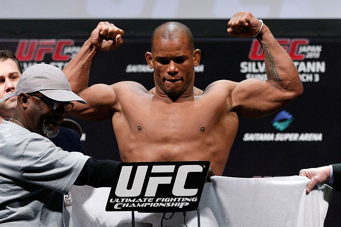 SAITAMA, JAPAN - MARCH 02: Hector Lombard weighs in during the UFC on FUEL TV weigh-in at Saitama Super Arena on March 2, 2013 in Saitama, Japan. (Photo by Josh Hedges/Zuffa LLC/Zuffa LLC via Getty Images)