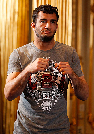 STOCKHOLM, SWEDEN - APRIL 03:  Gegard Mousasi of USA conducts an open training session at the Grand Hotel on April 3, 2013 in Stockholm, Sweden.  (Photo by Josh Hedges/Zuffa LLC/Zuffa LLC via Getty Images)